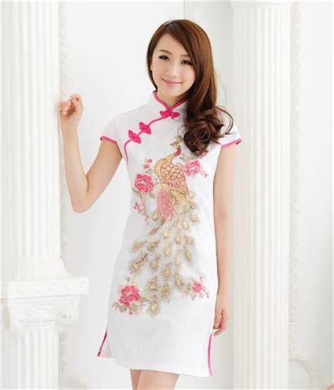 Cheongsam Pink jual baju imlek baju cheongsam pink putih dress