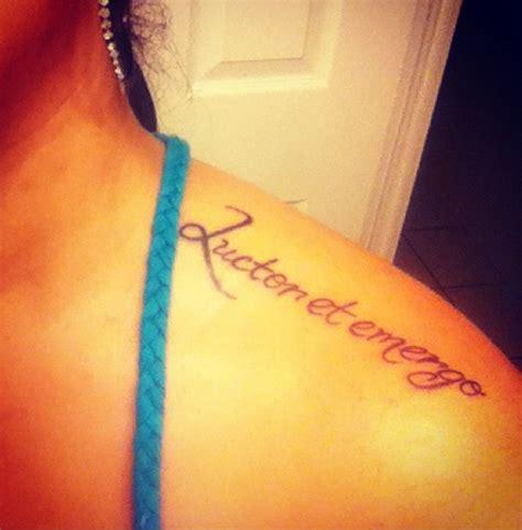 et tattoo luctor et emergo meaning quot i struggle emerge