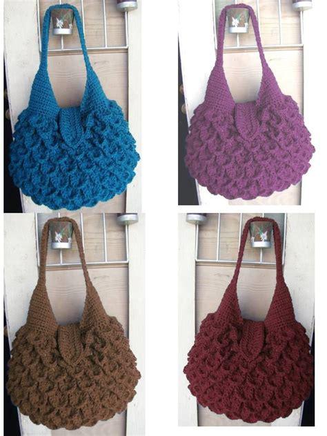 crochet pattern crocodile stitch bag instant download crochet crocodile bag pattern cas