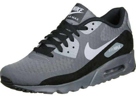 nike air max  ultra essential shoes grey black