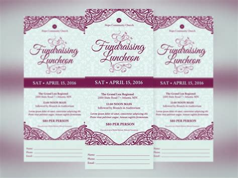 29 Fundraising Flyer Templates Psd Vector Eps Jpg Download Freecreatives Luncheon Flyer Template