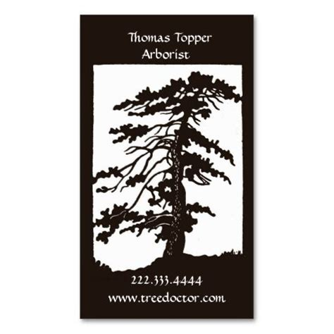 tree card template 1000 images about tree trimmer business cards on