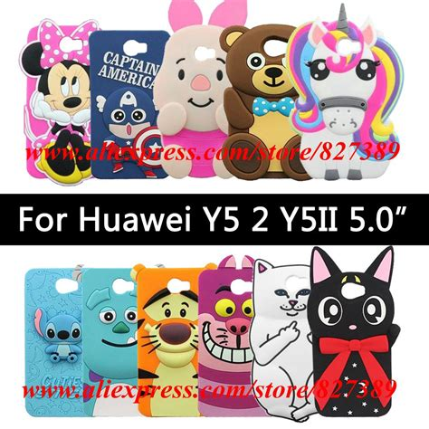 Soft Silikon Huawei Y5 Ll Y5 Ii Y5 3 for huawei y5 2 y5ii cover random tie soft silicone unicorn phone cases cover