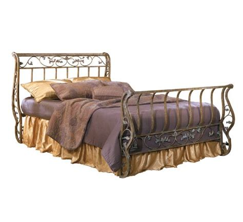 iron sleigh bed metal sleigh bed bittersweet metal sleigh bed by ashley