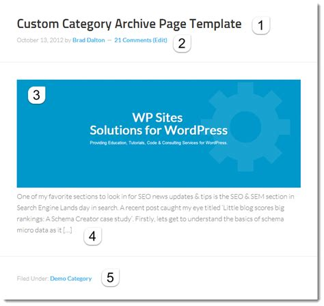 template archive create custom category archive page template in genesis