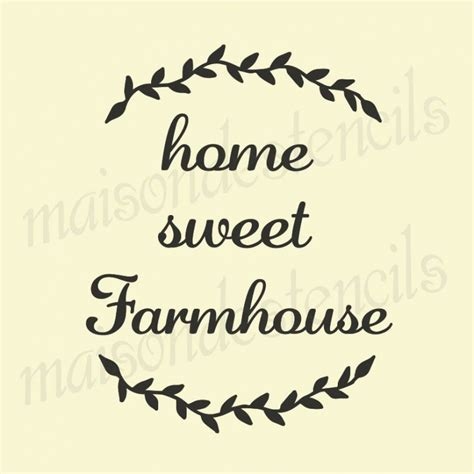 home stencil home sweet farmhouse 12x12 stencil