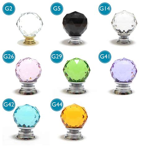 Glass Wardrobe Door Knobs by Faceted Glass Cupboard Door Knobs By Pushka Knobs