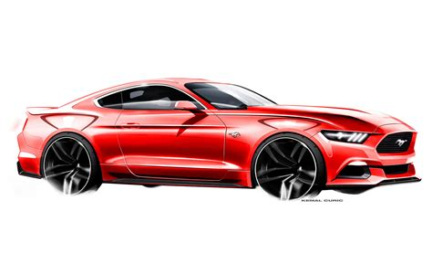 ford design in the ford mustang design sketch by kemal curic car body design