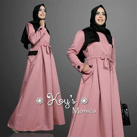 Baloteli Kyla Gamis Kyla Dress dusty pink baju muslim gamis modern