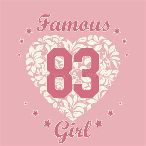 stylish heart design royalty free girl t shirt design stock vector image 61408844