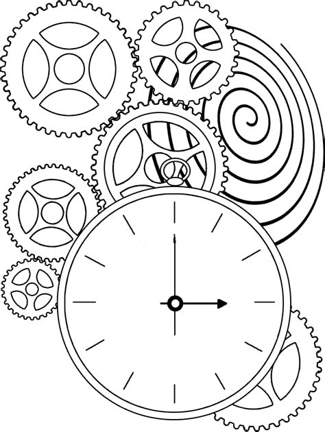 printable clock pages clock coloring pages 360coloringpages