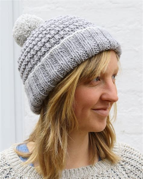 knitting pattern 2 year old hat alexis hat with bobble for adults and children knitting