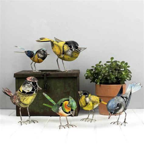 Garden Metal Birds Metal Bird Garden Ornaments Choice Of Six By The Orchard