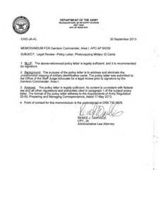 Army Policy Letter Template by Army Policy Letter Format Letter Format 2017