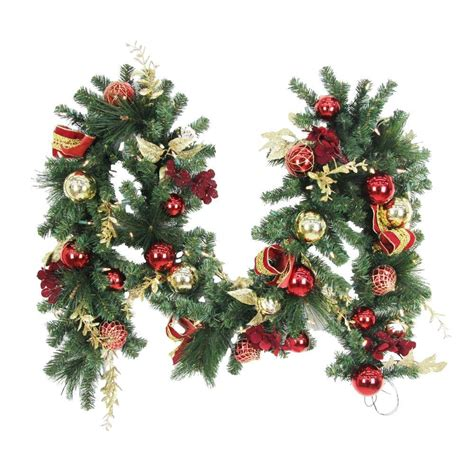 garland ideas 9 ft battery operated plaza artificial garland with 50