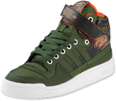 adidas wars sneakers adidas wars forum mid shoes green orange white