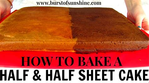 how to bake a half vanilla half chocolate sheet cake