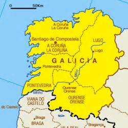 Galicia Spain Map by Galicia Tourism Map Area Map Of Spain Tourism Region And