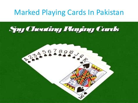 marked playing cards  islamabad pakistan