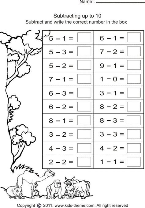 printable math games grade 1 simple subtraction worksheets word activities