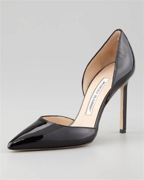 Shine On In The Shine Patent Leather Dorsay From Davis By Ruthie Davis Shoewawa manolo blahnik tayler patent pointed d orsay in black