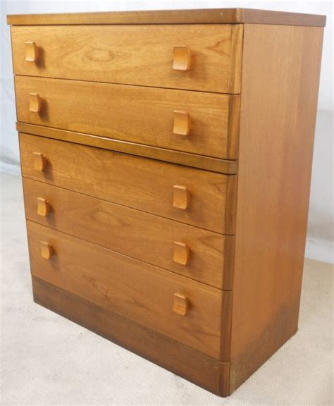 light teak chest of drawers by stag sold