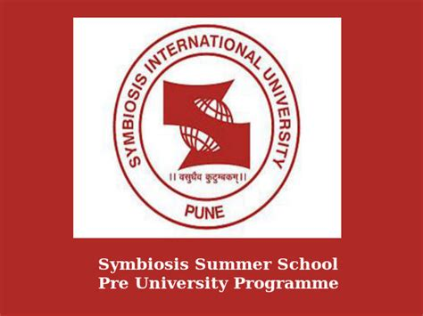 Symbiosis Open Mba by Admissions To Pre Programme Open At Symbiosis