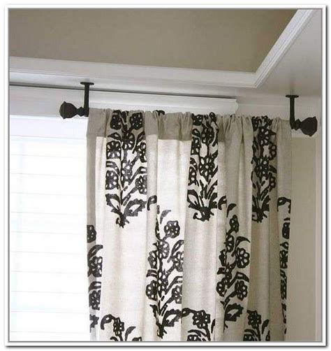 attach curtain rod to ceiling how to attach curtain rods ceiling myminimalist co