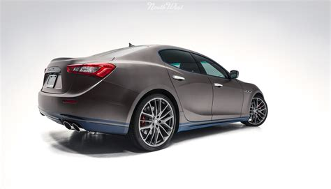 wrapped maserati ghibli maserati ghibli car wrap in xpel stealth paint protection