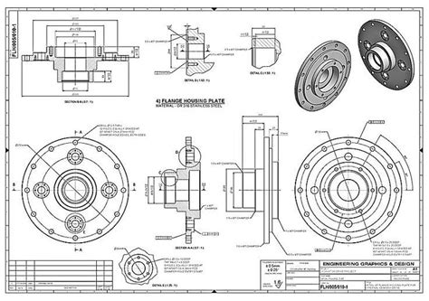 pattern mechanical engineering mechanical box drawing google search blueprint