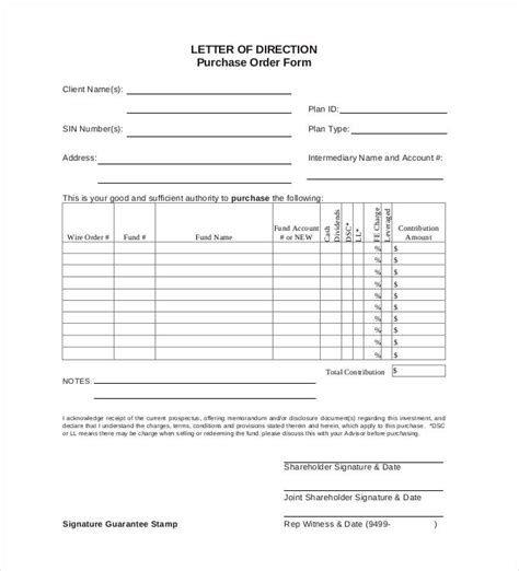 Purchase Order In Letter Format purchase order template 45 free word excel pdf