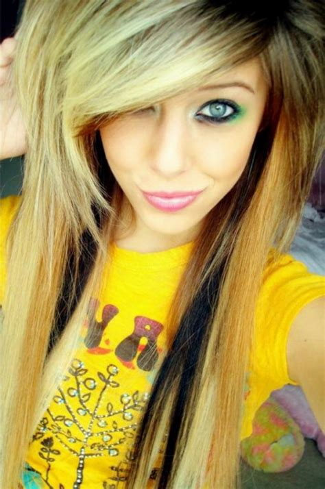 emo hairstyles for long hair girls cute emo girls with long hair style 13 hairzstyle com