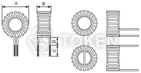 iron inductor losses toroidal inductors tctc token components