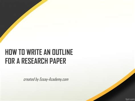How To Make An Outline For A Research Paper Exles - how to write an outline for a research paper 1