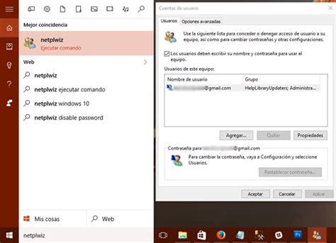 quitar imagenes cuenta windows 10 c 243 mo quitar la contrase 241 a de inicio en windows 10