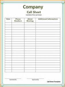 call to template 14 patient call log template plantemplate info