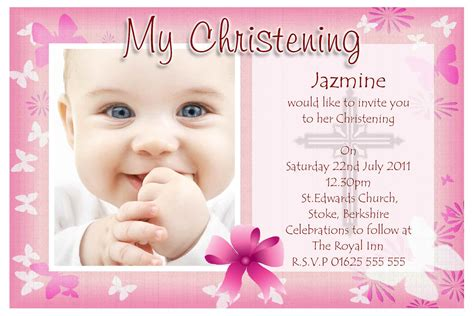 Baptism Invitations by Free Baptism Invitation Template Free Christening