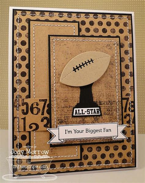 Handmade Football Cards - football card handmade card ideas layout