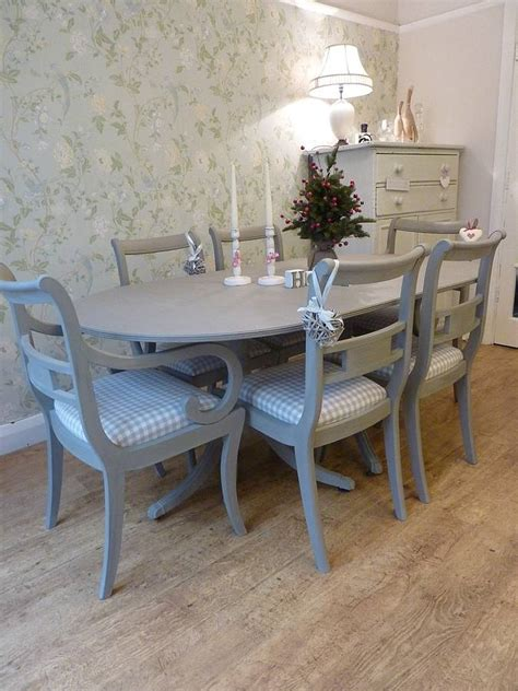 painted vintage dining table and chairs set dining set