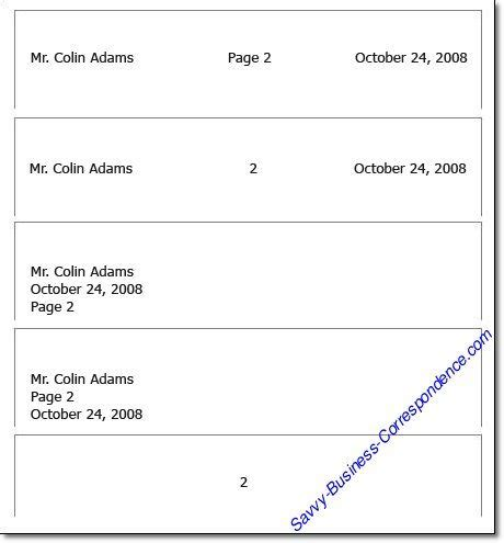 business letter format header page business letter how to format the header of