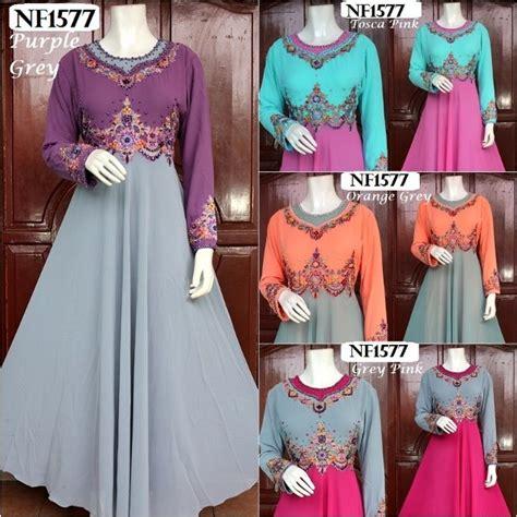 Nf Gamis Syari Marbella Dress Gamis Syari Gaun Dress Dress 1 sewa baju p ramlee jual beli baju putri mihrimah nf1577
