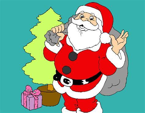 imagenes de santa claus y la navidad dibujo de papa noel pintado por satar en dibujos net el