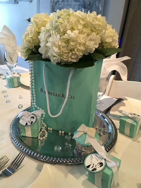Breakfast at Tiffany's Bridal Brunch Centerpiece
