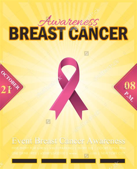breast cancer template 15 breast cancer flyers free psd ai eps format