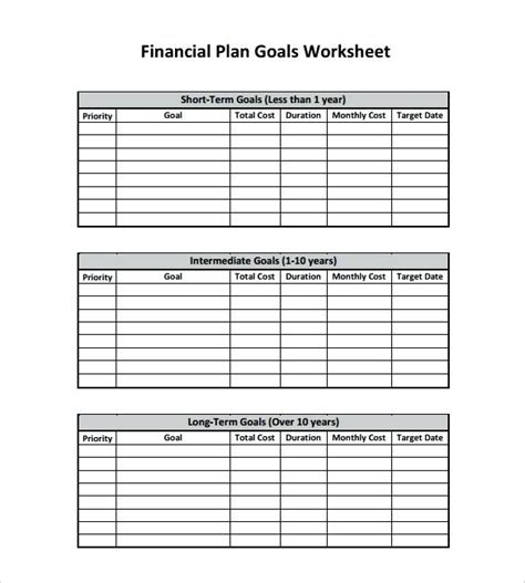 5 year goal plan template by 5 year goal plan template goals exle