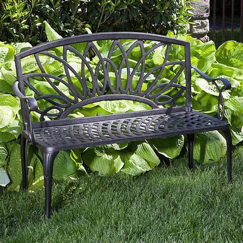 cast aluminum outdoor bench daffodil cast aluminum outdoor bench at wayside gardens