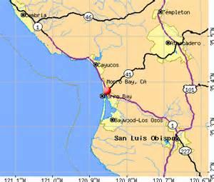 San Luis Obispo Zip Code Map by Morro Bay California Map California Map