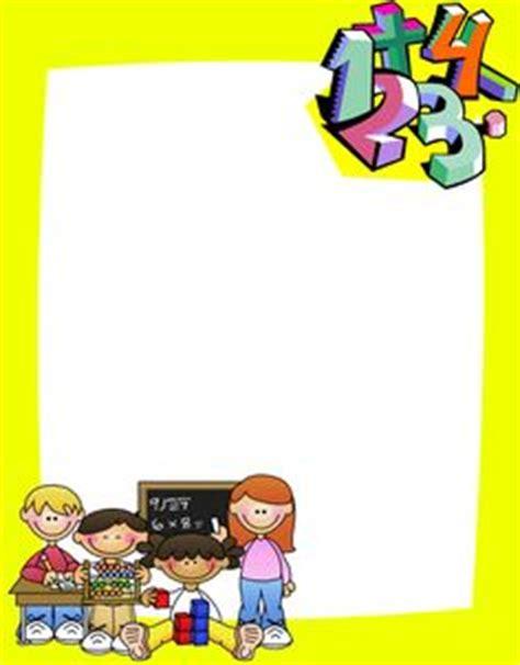 imagenes de margenes matematicas marcos escolares o bordes rayito de colores gafetes