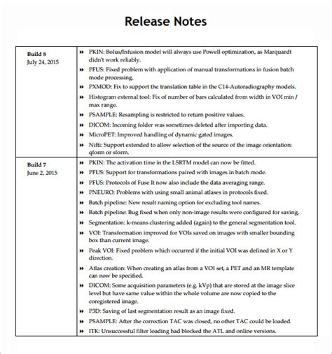 release notes template 6 free documents in pdf word