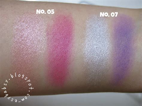 Varian Eyeshadow Viva lunatic vixen review viva eye shadow no 05 no 07